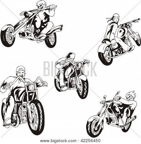 Set Of Bikers