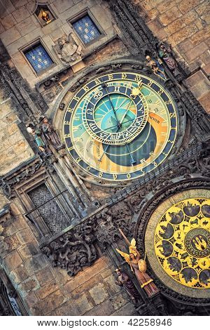 Orloj astronomical clock in Prague, Czech Republic