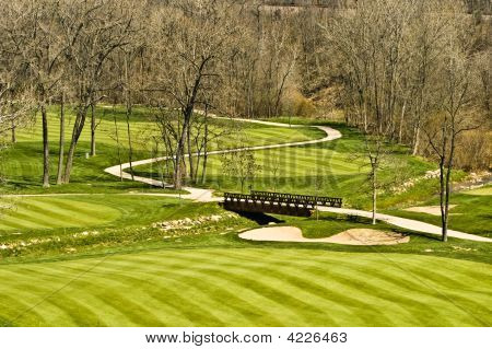 Golf Course Bridge Scene