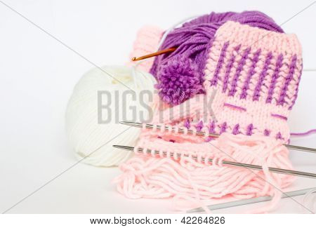 Knitted baby's bootees