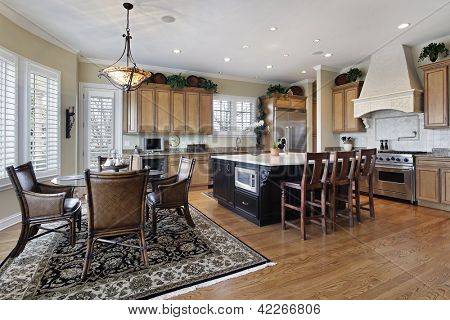 Kitchen in luxury home with large island