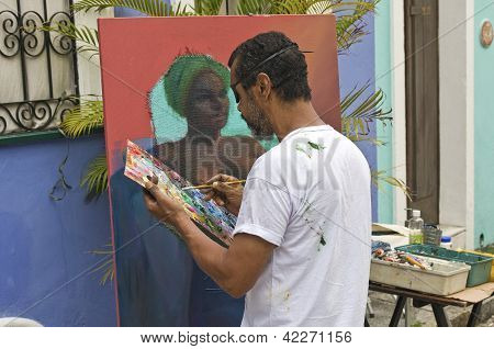 Bahian Street Painter
