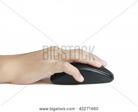 computer mouse in a hand