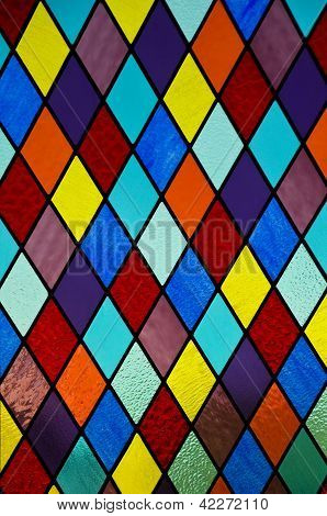 Stained Glass With Diamond Pattern
