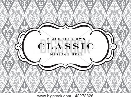 Vector Ornate Frame and Pattern. Easy to edit. Perfect for invitations or announcements.
