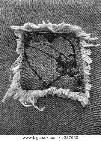 Black Denim Heart 3
