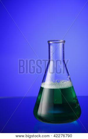 erlenmeyer flask full of liquid