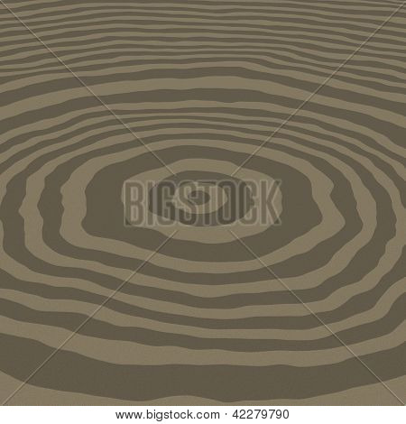 3D rendered concentric circles texture