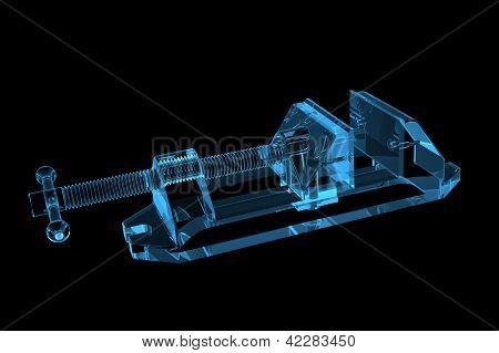 Vise 3D X-Ray Blue Transparent