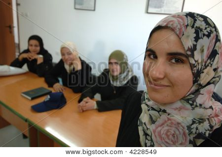Female Students In Gaza