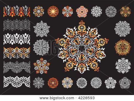 Decorative Snowflakes And  Borders