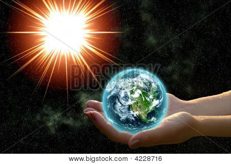 Earth In Woman Hands
