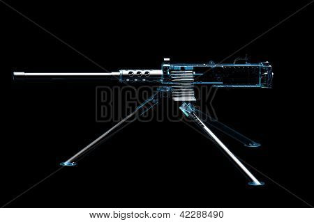 Machine Gun (3D xray blue transparent)