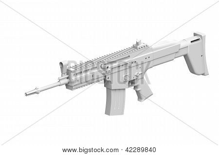 Colorless Gun isolated on white