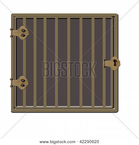 Gold Or Bronze Cage Or Jail Cell