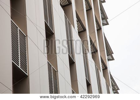 Aluminum composite on building
