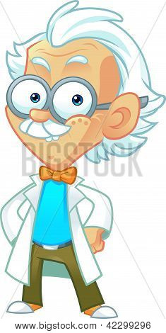 Professor Mascot on a White Background