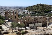 Lanscape Of Ancient Odeon Of Herodes Atticus