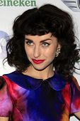 LOS ANGELES - FEB 10:  Kimbra arrives at the Warner Music Group post Grammy party at the Chateau Mar