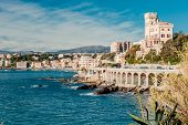 image of genova  - View of Genoa port city in northern Italy - JPG