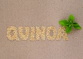 stock photo of quinoa  - A word  - JPG