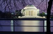 Washington DC, Thomas Jefferson memorial at night