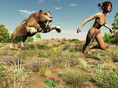 image of sabertooth  - People in stone age did not travel very much.