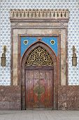 foto of ramses  - Medieval door at Cairo railway station Ramses - JPG