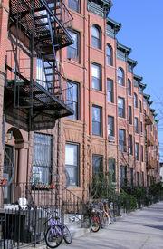 picture of brownstone  - New York City brownstones in Park Slope - JPG