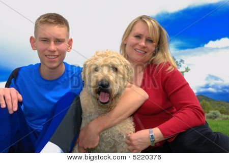 Mother, Son And Dog