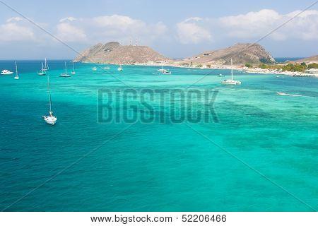 Seashore of archipelago Los Roques