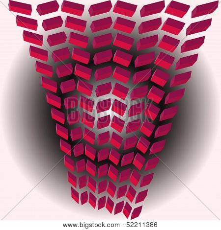 Abstract pink blocks background.