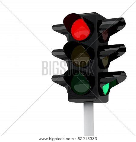Traffic lights, 3d image