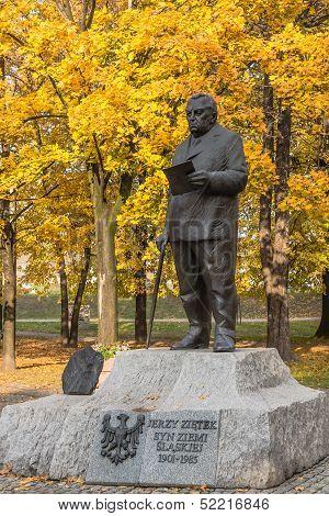 Monument to Jerzy Zietek