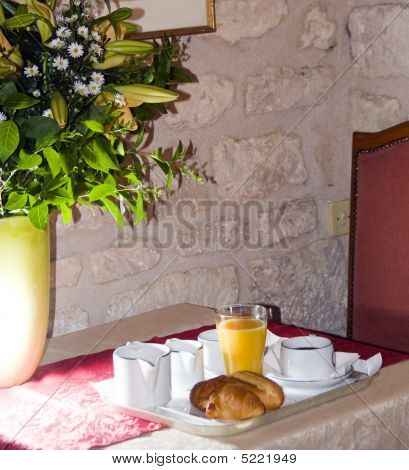 Continental Breakfast In Hotel Paris France