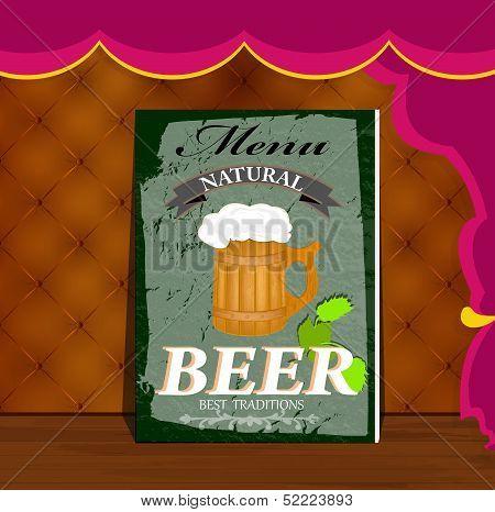 Best traditional fresh cold Beer. Restaurant menu.
