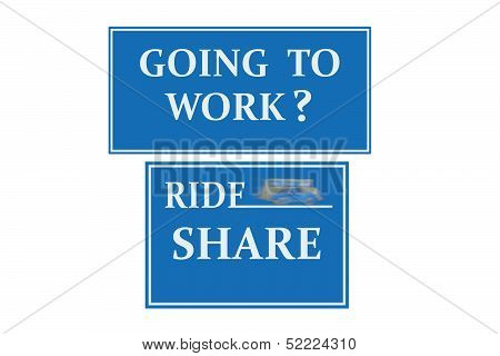 Ride Share Sign