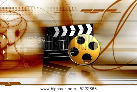 Clapboard And Film Reel