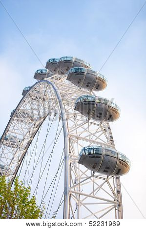 The London Eye in London, UK