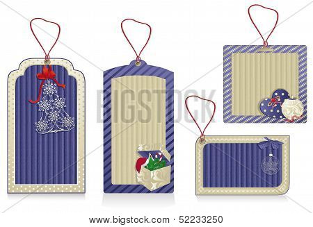 Christmas Eco Labels Blue