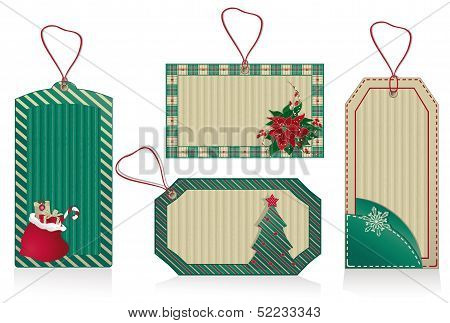 Christmas Green Labels