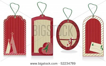 Christmas Red Labels