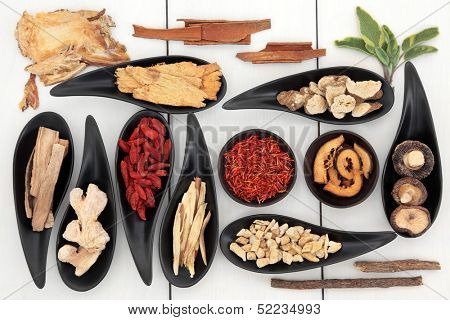 Traditional chinese herbal medicine ingredient selection.