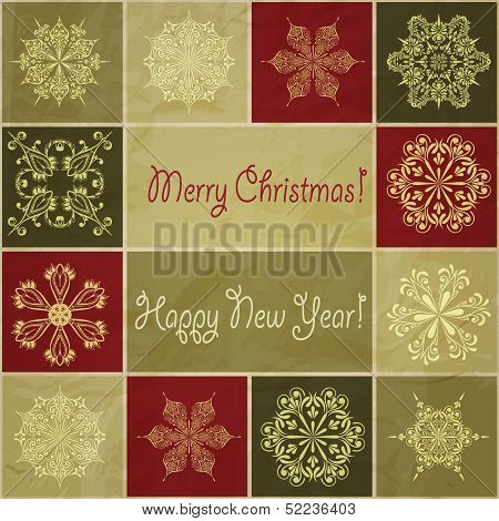 Vector Christmas Pattern With Snowflakes