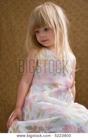 Posing Young Blond Girl
