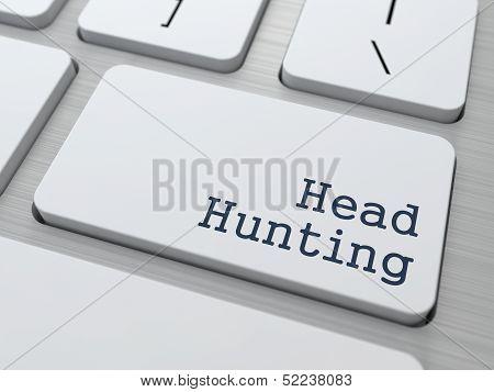 White Keyboard with Headhunting