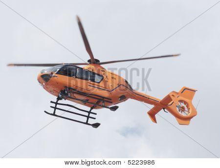 Orange Rescue Helicopter
