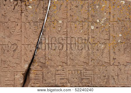 The Gate of the Sun Closeup, Tiwanaku, Bolivia