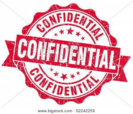 Confidential Red Grunge Stamp