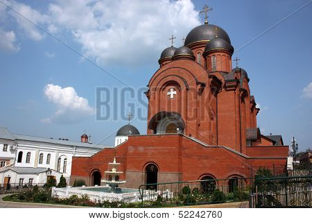 Temple of the Intercession of the Holy Virgin. Holy Trinity Monastery. Russia